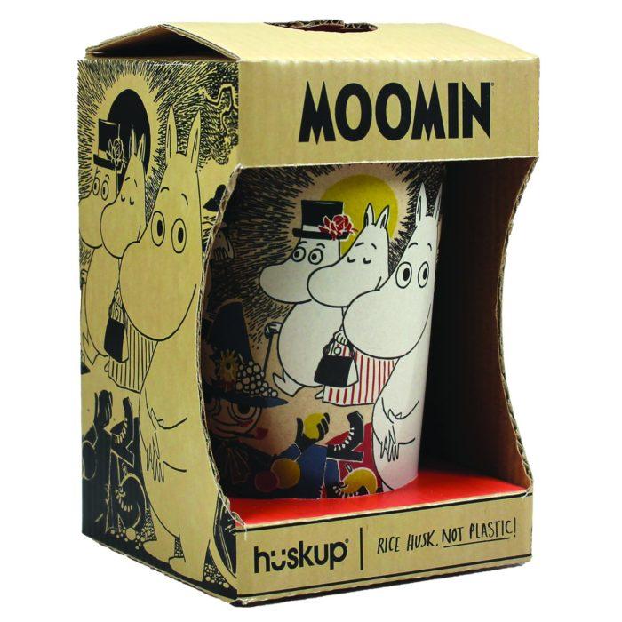 Moomin in its huskup plastic free packaging
