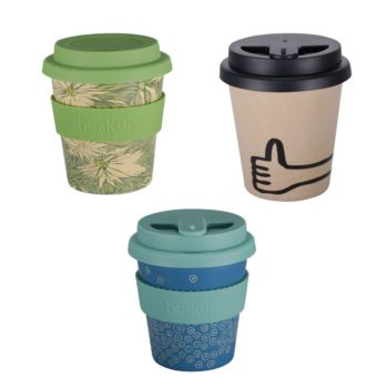 three of our popular barista style rice husk cups